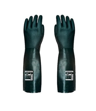 A845 - Gant PVC 45cm double trempage - Green - R