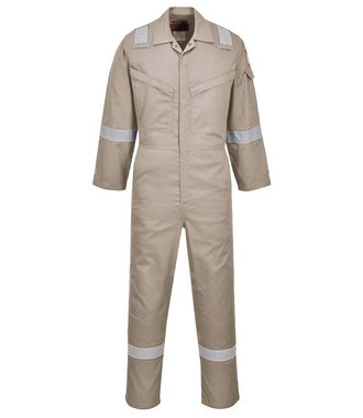 AF73 - Araflame Silver Coverall - Khaki - R