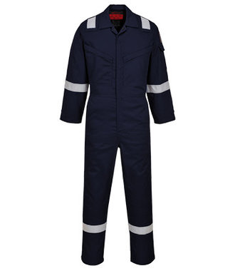AF73 - Araflame Silver Coverall - Navy - R