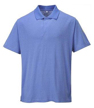 AS21 - Antistatik ESD Polo-Shirt - HosBlu - R