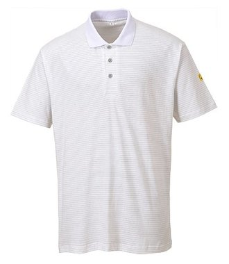 AS21 - Antistatik ESD Polo-Shirt - White - R