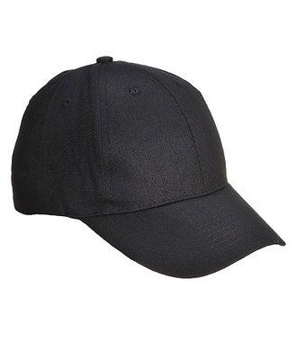 B010 - Six Panel Baseball Cap - Black - R