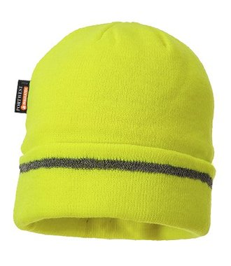 B023 - Reflective Trim Knit Hat Insulatex Lined - Yellow - R