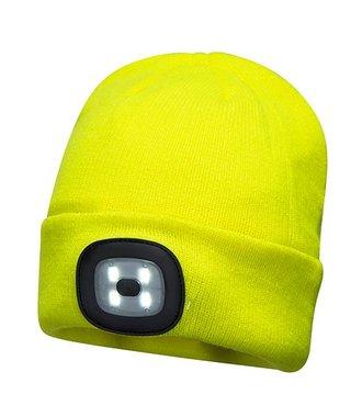 B029 - Beanie LED Head Light USB Rechargeable - Yellow - R