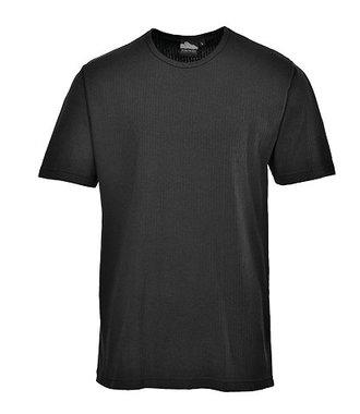 B120 - Thermal T-Shirt Short Sleeve - Black - R