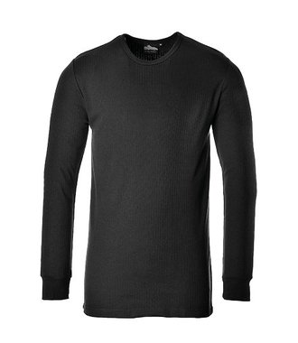 B123 - Langarm Thermo-T-Shirt - Black - R