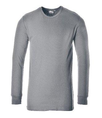 B123 - Langarm Thermo-T-Shirt - Grey - R