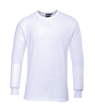 B123 - Thermal T-Shirt Long Sleeve - White - R