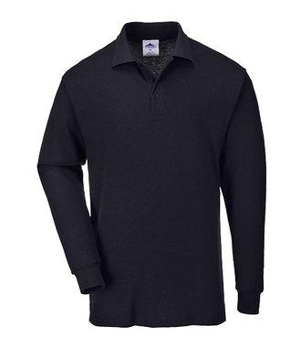 B212 - Genoa Long Sleeved Polo Shirt - Black - R