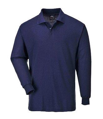 B212 - Genoa Langarm Polo-Shirt - Navy - R
