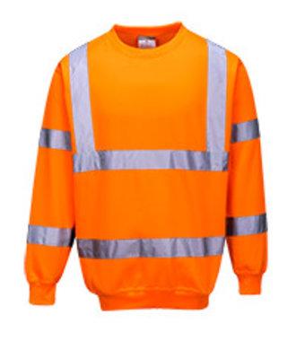 B303 - Hi-Vis Sweatshirt - Orange - R