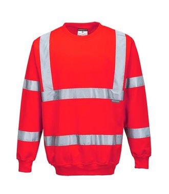 B303 - Hi-Vis Sweatshirt - Red - R