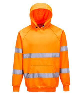 B304 - Hi-Vis Hooded Sweatshirt - Orange - R
