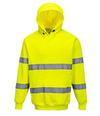 B304 - Hi-Vis Hooded Sweatshirt - Yellow - R