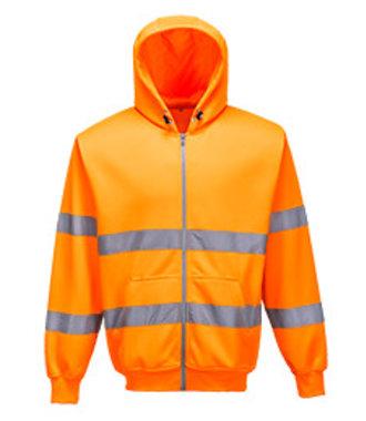 B305 - Hi-Vis Zip Front Hoodie - Orange - R
