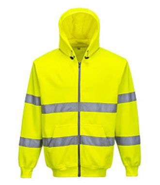 B305 - Hi-Vis Zip Front Hoodie - Yellow - R