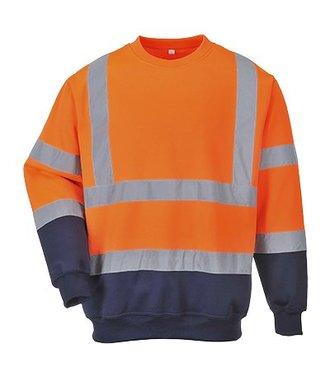 B306 - Tweekleuren Hi-Vis Sweatshirt - OrNa - R