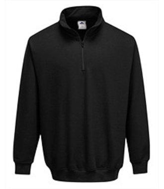 B309 - Sorrento Zip Neck Sweatshirt - Black - R