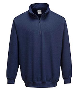 B309 - Sweatshirt col zippé Sorrento - Navy - R