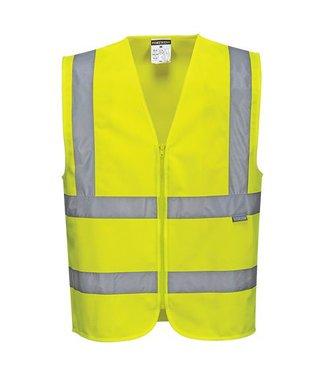 C375 - Hi-Vis Zipped Band & Brace Vest - Yellow - R