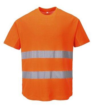 C394 - Mesh T-shirt - Orange - R