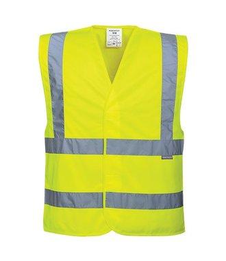 C470 - Hi-Vis Two Band & Brace Vest - Yellow - R