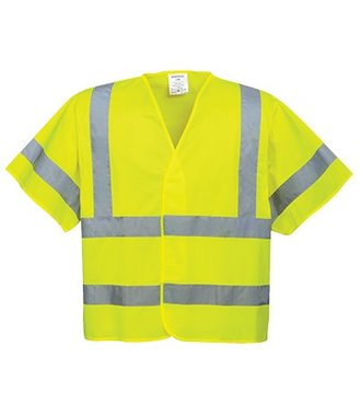 C471 - Hi-Vis Short Sleeved Vest - Yellow - R