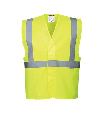 C472 - Hi-Vis One Band & Brace Vest - Yellow - R