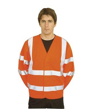 C473 - Gilet 2 bandes & baudrier manches longues - Orange - R