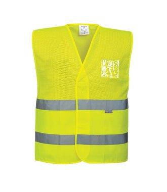 C494 - Hi-Vis Half Mesh Vest - Yellow - R