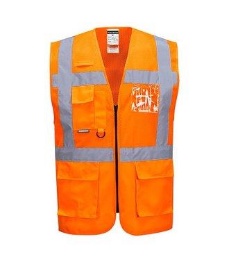 C496 - Madrid Executive Mesh Vest - Orange - R