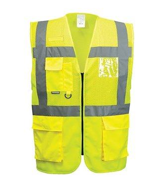 C496 - Madrid Executive Mesh Vest - Yellow - R