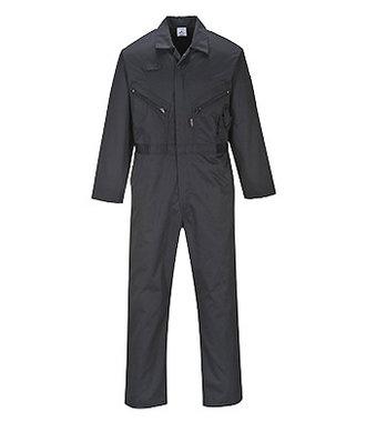 C813 - Liverpool Zip Coverall - Black - R