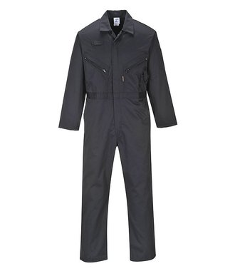 C813 - Liverpool Zip Coverall - BlackT - T
