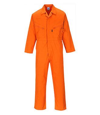 C813 - Liverpool Zip Coverall - Orange - R