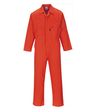 C813 - Liverpool Zip Coverall - Red - R
