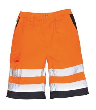 E043 - Hi-Vis Poly-cotton Shorts - OrNa - R