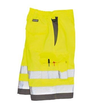 E043 - Warnschutz-Short aus Polyester-Baumwolle - YeGrey - Y