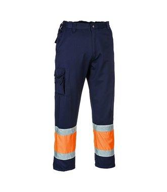 E049 - Pantalon combat Hi-Vis Bicolore - OrNa - R