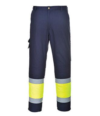 E049 - 2-farbige Warnschutz-Combat Hose - YeNa - R