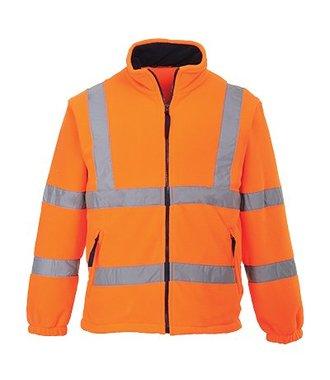 F300 - Warnschutz-Fleece-Jacke mit Netzfutter - Orange - R