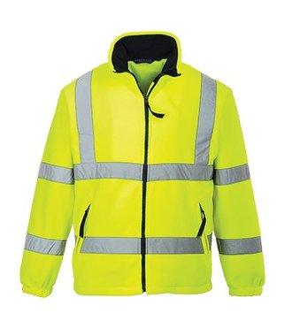 F300 - Warnschutz-Fleece-Jacke mit Netzfutter - Yellow - R