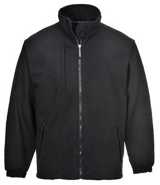 F330 - BuildTex Laminated Fleece (3L) - Black - R