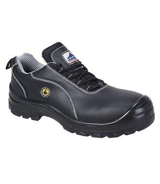 FC02 - Portwest Compositelite ESD Leather Safety Shoe S1 - Black - R