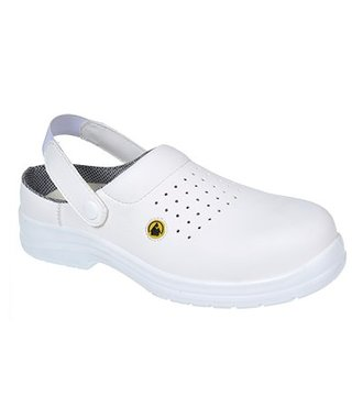 FC03 - Portwest Compositelite ESD Perforated Safety Clog SB AE - White - R