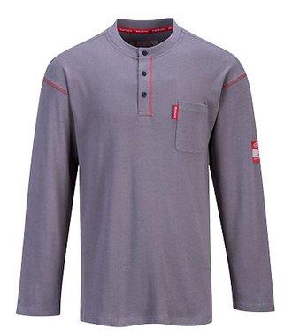 FR02 - Tshirt Bizflame Henley Crew - Grey - R