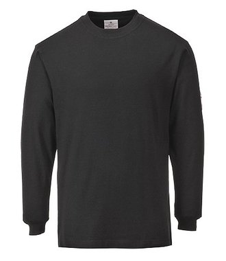 FR11 - Flame Resistant Anti-Static Long Sleeve T-Shirt - Black - R