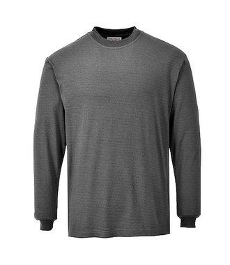 FR11 - Flame Resistant Anti-Static Long Sleeve T-Shirt - Grey - R