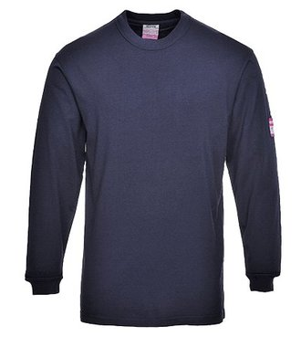 FR11 - Flame Resistant Anti-Static Long Sleeve T-Shirt - Navy - R
