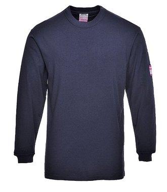 FR11 - Flammhemmendes antistatisches Langarm T-Shirt - Navy - R